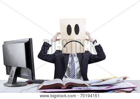Stressful Anonymous Businessman In Office