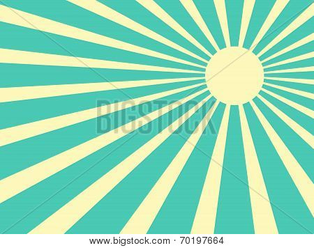 Sun Rays Retro Vector
