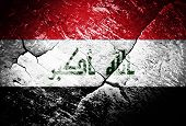 image of iraq  - Iraq flag Iraq flag war conflict worn distressed - JPG