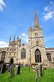 pic of church-of-england  - St John the Baptist church Burford Oxfordshire England UK Western Europe - JPG