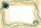 picture of vintage jewelry  - Frame of tender lace and jewelry - JPG