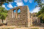 pic of albania  - Ruins of Great Basilica in Butrint  - JPG