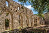 stock photo of albania  - Ruins of Great Basilica in Butrint  - JPG