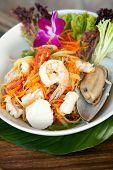 pic of green papaya salad  - Traditional dish of freshly prepared Thai food - JPG