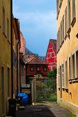 pic of regnitz  - Residential inner yard in Bamberg Bavaria Germany - JPG