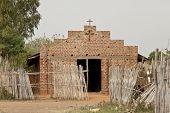 image of sudan  - simple brick and mortar church in South Sudan - JPG
