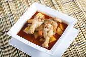 stock photo of curry chicken  - Chicken yellow curry on the plate Thai food - JPG