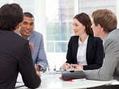 pic of marketing strategy  - Serious business group having a meeting in a company - JPG