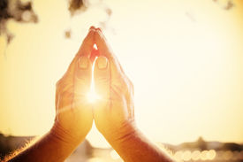 stock photo of pray  - Praying hands - JPG