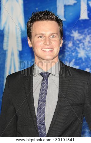 LOS ANGELES - NOV 19: Jonathan Groff at the premiere of Walt Disney Animation Studios' 'Frozen' at the El Capitan Theater on November 19, 2013 in Los Angeles, CA