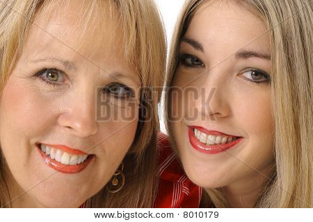 mother daughter closeup