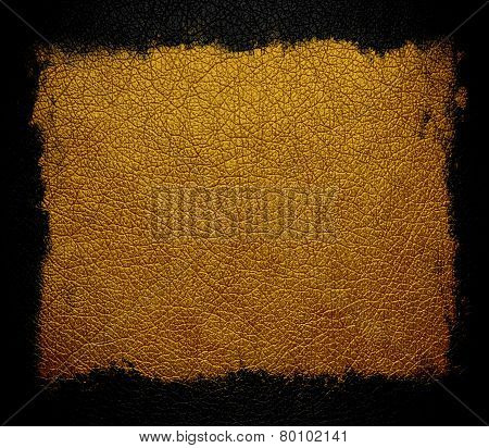 leather background or texture with black frame