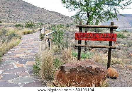 Start Of The Fossil Trail In The Karoo National Park