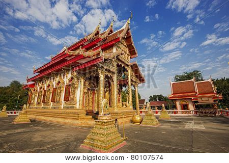 Beautyful temple with blue sky