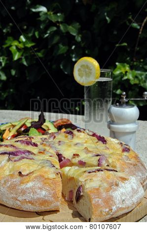 Cheese and onion Focaccia.