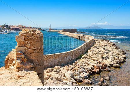 Chania Harbour. Crete, Greece