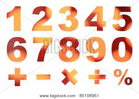 One To Zero Numbers And Basic Mathematical Symbols