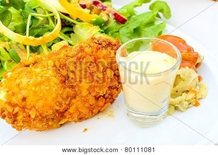Close Up Of Crisp Chicken