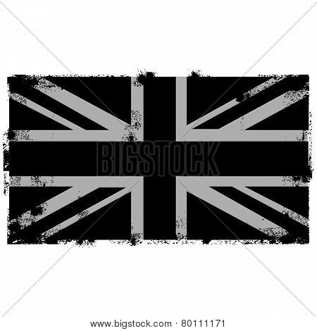 Grunge Black British Background