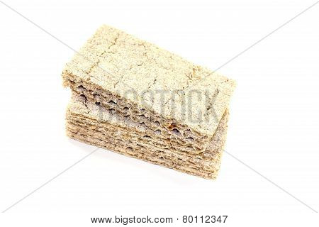 Small Stack Of Fresh Crispbread