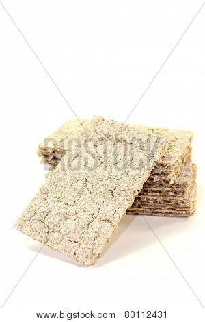 Small Stack Of Crispy Crispbread