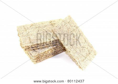 Small Stack Of Crisp Crispbread