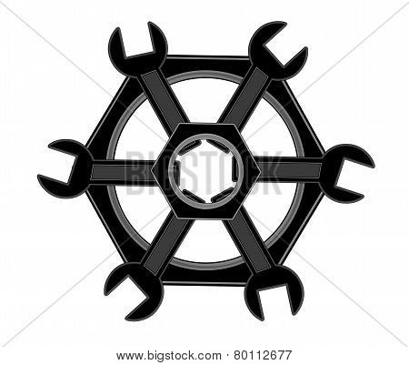 The Logo Of The Bolts And Wrenches.