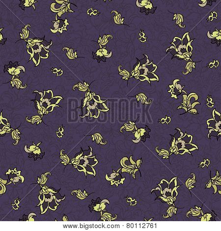 textile flower seamless pattern