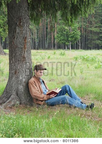 Person Reads Book