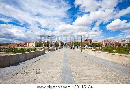 Sculpture In Front Of Toledo Bridge