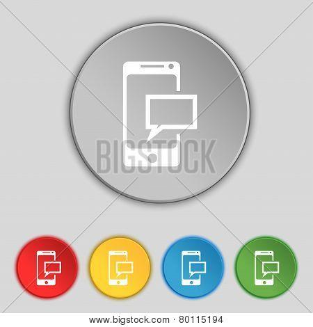 Mail Icon. Envelope Symbol. Message Sms Sign. Mails Navigation Button. Set Colur Buttons Vector