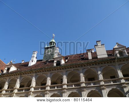 Landhaushof in Graz in Austria