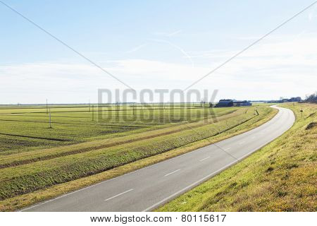 Country Landscapes typical in the area of delta del Po