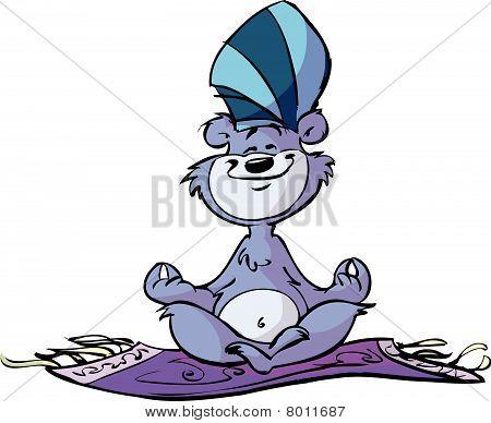 alladdin magic bear on floating carpet