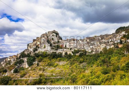 Cervara di Roma, hill top village, in Lazio province, Italy