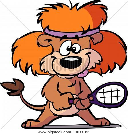 tennis lion