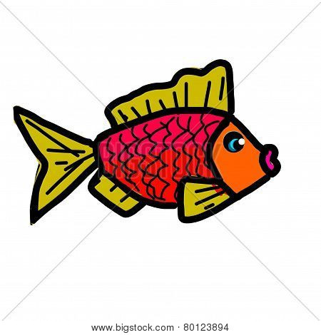 Decorative fish on a white background