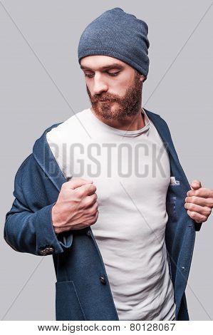 Wearing His Favorite Jacket.