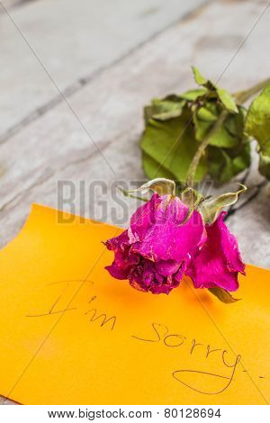 Rose On The Wooden