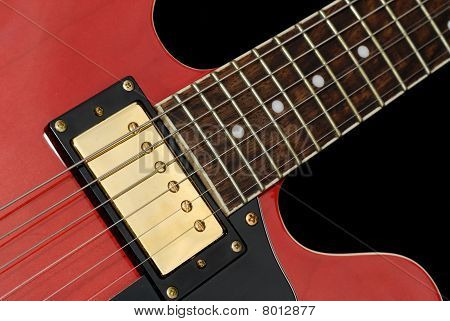 Red Elecric Guitr Close-up