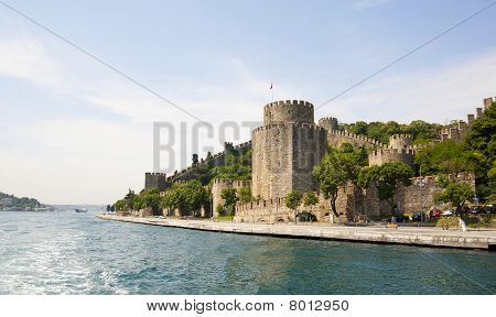 Ancient Fortress On A Large River