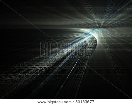 Dark sci-fi abstract background design