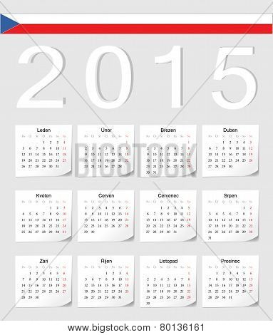 Czech 2015 Calendar