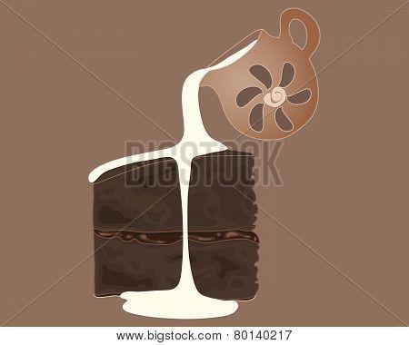 Chocolate Cake And Cream