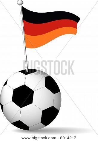 German Flag in Soccer Ball