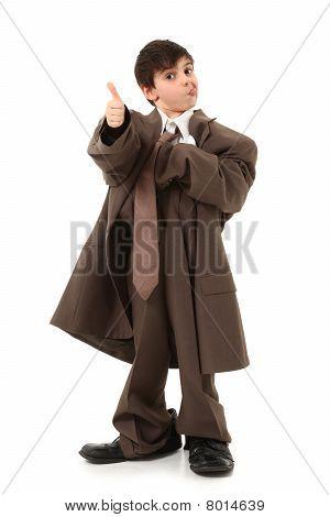 Adorable Boy In Suit