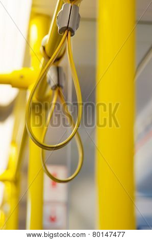 Handles In Electric Train