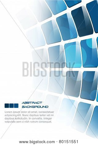 Abstract vector background, blue rectangular pattern