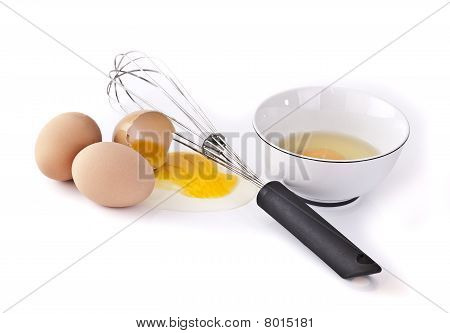 Eggs, Bowl And Wisk