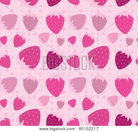 Strawberry seamless pattern background